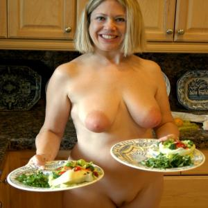 Something is. nudist dinner party